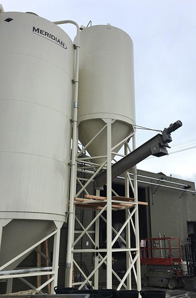 spent grain silo