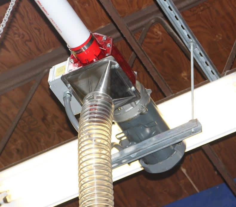 Small overhead auger