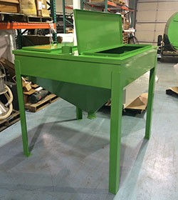 Green custom specialty hopper